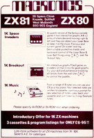 Macronics: 3 Games for the ZX80 & ZX81 (1981)
