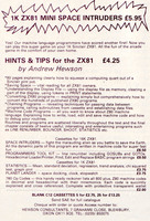 Hewson Consultants: 1K ZX81 Mini Space Invaders (1981)