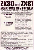 Quicksilva: QS Defender & QS Asteroids (1981)