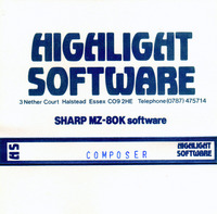 Highlight Software: Composer